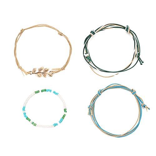 Jadpes armband, handgeweven, nationale stijl, handgemaakt, reliëf, Bohemian, sieraden, 4 stuks