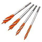 Set di punte per trapano a coclea da 25 mm, con foro esagonale, foro elicoidale per legno, 25 mm