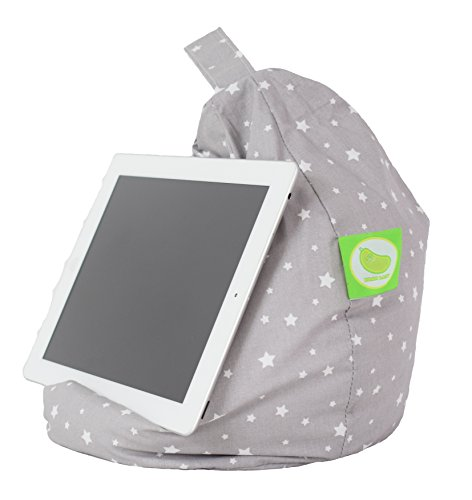 iPad, eReader & Book Mini Bean Bag By Bean Lazy Fits All tablets and eReaders - Grey Stars