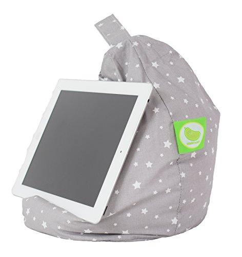 Bean Lazy Mini-Sitzsack für iPad, eReader und Buch, geeignet für alle Tablets und eReader - graue Sterne