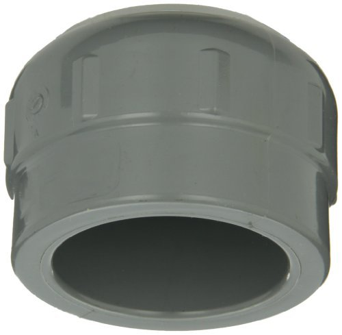 GF Piping Systems CPVC Pipe Fitting, Cap, Schedule 80, Gray, 1-1/2 Slip Socket by GF Piping Systems