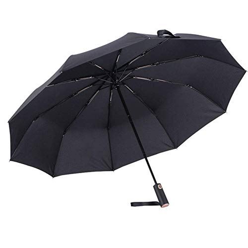Zrmumbrella Vindskyddad resa Fällbara paraply Golfparaply Automatisk Öppna Stäng, Lättvikt 10 Ribbor Automatisk Vindskyddad Canopy Compact Paraply | Varuhus: LJW-56
