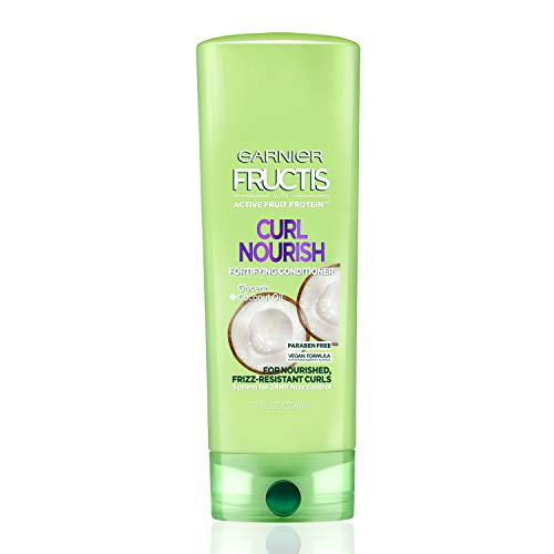Garnier Fructis Curl Nourish Parabenfree Conditioner Infused with Coconut Oil and Glycerin System for 24 Hour FrizzResistant Curls 12 fl oz Packaging May Vary