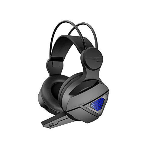 LXFTK Casque de jeu, casques filaires, casques de jeu éclairés, écouteurs antibruit, stéréo