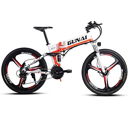 Xiaoyue 350W Electric Mountain Fahrrad mit Rücksitz mit 48V Abnehmbare Lithium-Batterie 3 Arbeitsmodi LCD-Anzeige E-Bike for Erwachsene lalay