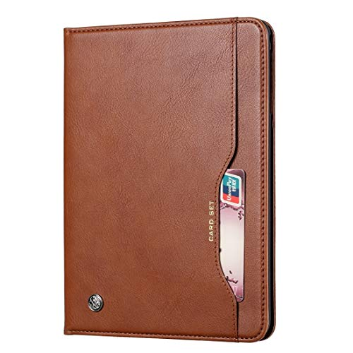 YDYX AYDD Knead Skin Texture Horizontal Flip Leather Case for Galaxy Tab A 8 2019 P200 / P205, with Photo Frame & Holder & Card Slots & Wallet(Black) (Color : Brown)