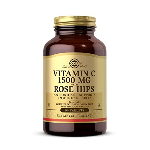 Solgar Vitamin C 1500 mg (1.5 grams) with Rose Hips Tablets - Pack of 90