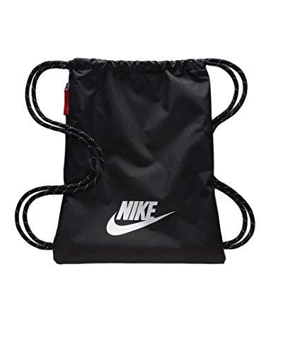 Nike Heritage 2.0 Gymbag Gymsack (one size, black/white)