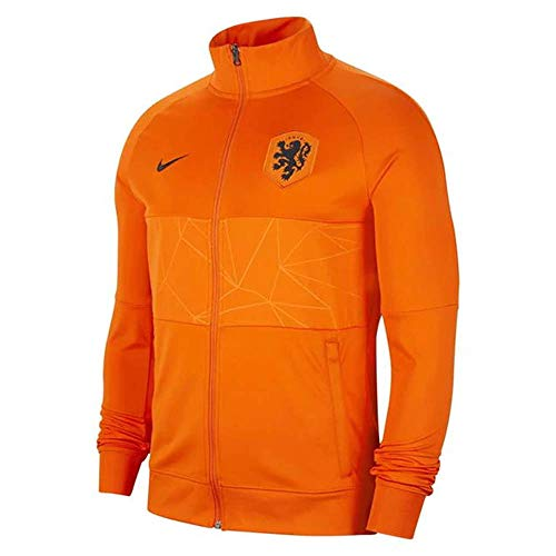 Nike Holland Anthem 2020-2021 - Chaqueta (naranja), S, naranja/fiesta de bloques