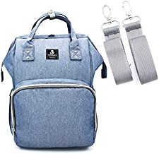 Diaper Bag Multi-Function Waterproof Travel Backpack Nappy Bags for Baby Care, Large Capacity, Stylish and Durable, Light Blue