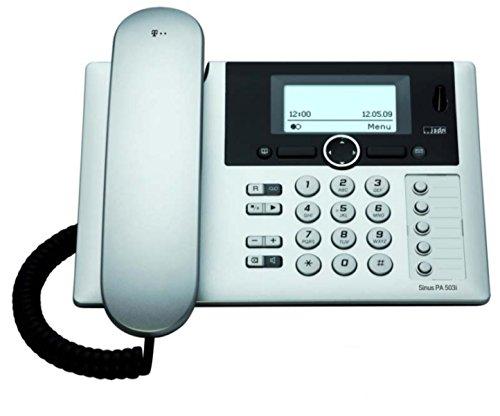 Telekom Sinus PA 503i plus 1 ISDN Telefon mit Anrufbeantworter und zusätzlichem Mobilteil silber mit schwarz