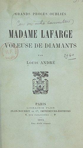 Madame Lafarge: Voleuse de diamants (French Edition)