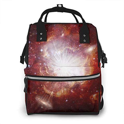 GXGZ Big Bang Conceptual Image Sac à dos imperméable à couches, compartiment avec deux poches et huit rangements, sacs d'allaitement élégants et durables pour les parents