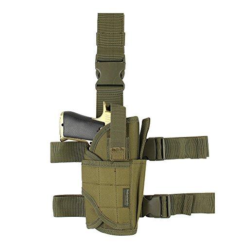 Adjustable Drop Leg Holster, Right Handed Tactical Thigh Pistol Gun Holster Leg Harness (XL)