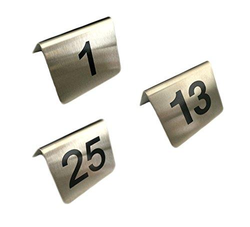 Tischnummernschilder Edelstahl Nr. 1-36 auflackiert