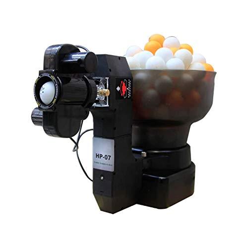 FQCD Ping-Pong-Ball Shooter, Ping-Pong-Maschine mit 7-Gang-Kopfwinkel eingestellt Werden kann / 0-5-Gang-Schwingen-Drehzahlverstellung, sicher und geeignet for die Innen- und Außenspiele