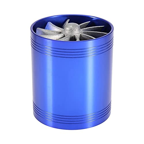 Apricot blossom Generador de Gas Coche Aire Admisión Turbonator Dual Fan Turbine Super Charger Gas Saver Turbo Hho Piezas universales (Color : Blue)