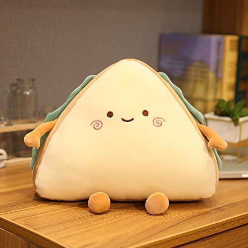 Simulation Food Sandwich Cake Plush Toy Cute Bread Stuffed Doll Soft Nap Sleep Pillow Sofa Bed Cushion Creative Birthday Gift 30cm