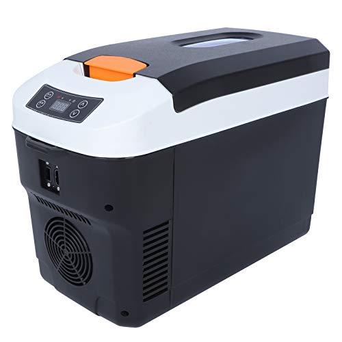 Jopwkuin 10L Mini Kühlschrank mit Gefrierschrank, Stabil Operation, Niedrig Lärm, tragbar Kühlschrank zum Wagen mit Wagen Zigarette zum Büro, Zuhause, Schlafsaal, Wagen, Reise, Picknick(EU-Stecker)