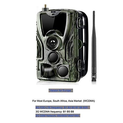 WANGMEILING Jagdkamera wildkamera HC300M HT001B HC801A HC801LTE 4G-Jagd-Kamera 12MP 940nm Nachtsicht MMS GPRS Foto Traps Trail Kamera Dropship (Color : 801lte EU Plug)