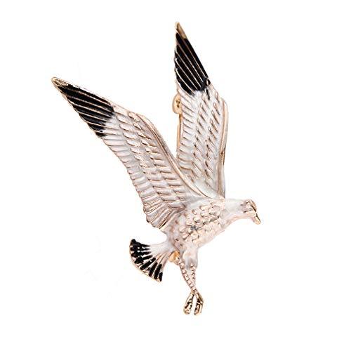 YAZILIND Gota Aceite aleación águila Animal Broche alfiler Hombres y Mujeres Breastpin Ropa Accesorios de Fiesta Corsage joyería Regalo(#2)