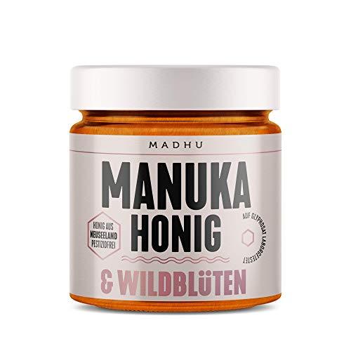 Manuka Honig und Wildblüten Honig im hochwertigen Glas - Direkt vom Imker aus Neuseeland (500g) - inklusive GRATIS Manuka Guide