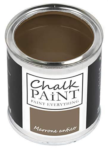 Everything CHALK PAINT Marrone Antico 250 ml - SENZA CARTEGGIARE Colora Facilmente Tutti i Materiali