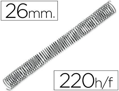 Q-Connect - Espiral Metálico 64 5:1 26Mm 1.2Mm Caja De 50 Unidades