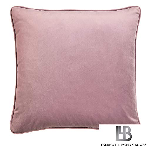 Laurence Llewelyn-Bowen Montrose-Velvet Cushion Cover, Blush, 43x43cm (17x17)