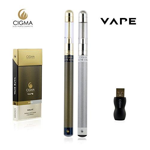 Cigma Vape Dual Kit | grande de la batería | Gran Clearomizer | Recargable...