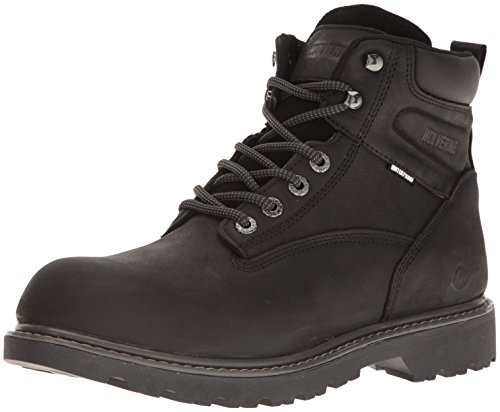 Wolverine Men's Floorhand Waterproof 6' Soft Toe Work Boot, Black, 10 M US