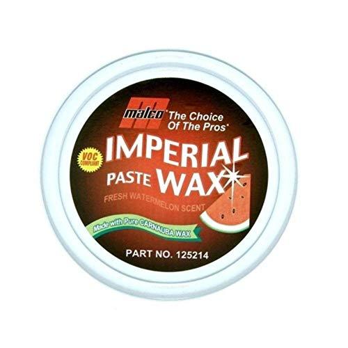 Malco Imperial Paste Wax, Watermelon, Long Lasting Carnauba Protection for Cars, VOC Compliant, 14 oz. (125214)