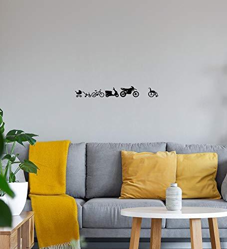 Shirt84.de - Adhesivo decorativo para pared (220 x 29 cm), diseño de evolución de Enduro