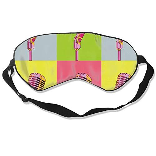 Premium Super Zacht Ademend Oogmasker met Verstelbare Band - Kerstmis Nieuwjaar Kerstman - Licht Blokkeren Slaap Masker voor Reizen, Nap, Yoga, Meditatie Eén maat Kleurrijke microfoon Cool