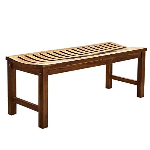 Trueshopping 3 Seater Wooden Bench - Naturally Weatherproof, Durable, Wooden Outdoor Garden Furniture made from Solid Teak for Garden, Patio, Decking, Balcony