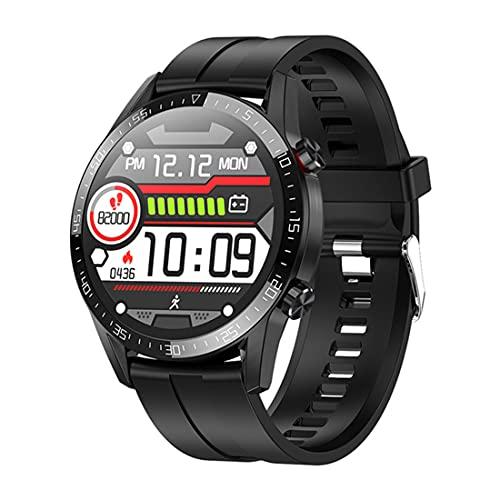 XHJL Smart Watches,Sports Smartwatch con Monitor de frecuencia cardíaca y sueño Pantalla táctil Digital de 1.3inch podómetro Impermeable IP68 rastreadores de Actividad para Hombres,Mujeres, Negro