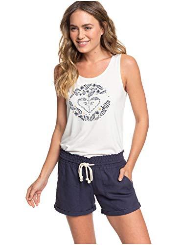 Roxy Damen Non-Denim Shorts Little Kiss - Leinen-Beachshorts für Frauen, Mood Indigo, L, ERJNS03255