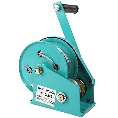RSHJD Cabrestante Manual Pequeño, 1200lb Cabrestante con Gancho y 10m Cable para...