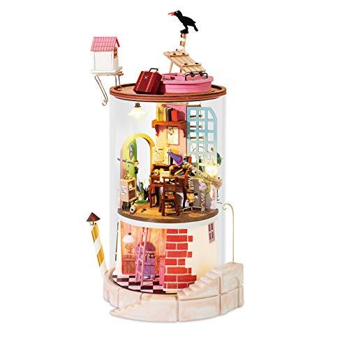 Rolife DIYドールハウス インテリア カラフル おもちゃ 暇つぶしキット ミニチュアハウス 装飾品 子供のプレゼント 組立の楽しみ 実践力を伸ばす 綺麗なプレゼント(鴉)