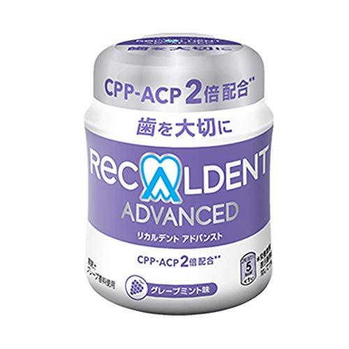 リカルデントガム グレープミント味 140gボトル 紫 140グラム (x 1)