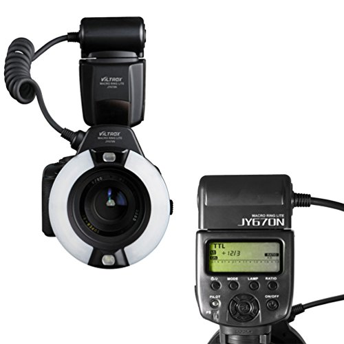 VILTROX JY670N i-TTL Macro Ring Flash Speedlite Light Flashgun for Nikon SLR Camera...