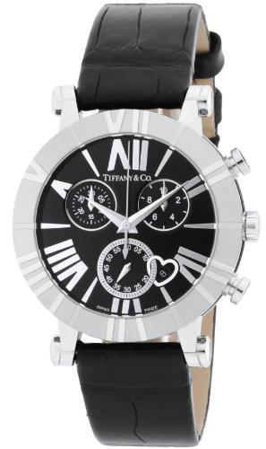 ティファニーTiffany&Co. 腕時計 AtlasChrono ブラック文字盤  アリゲーター革ベルト Z1301.32.11A10A71A レディース 【並行輸入品】