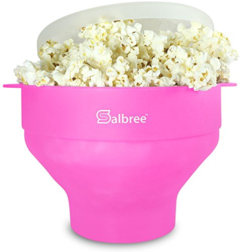Original Salbree Microwave Popcorn Popper, Silicone Popcorn Maker, Collapsible Bowl - The Most...