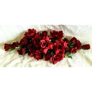 Silk Flower Arrangements Rose Swag Artificial Silk Flowers Fake Wedding Arch Table Runner Centerpiece Artificial Flower