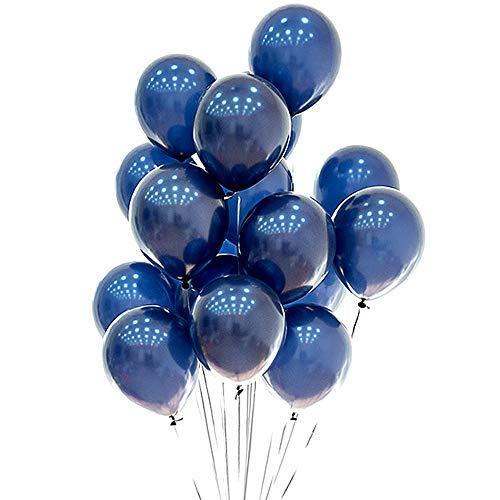 Blue Balloons 12 inch 50pcs LatexNavy Blue Balloons Kids Birthday Party Balloons Helium Balloons