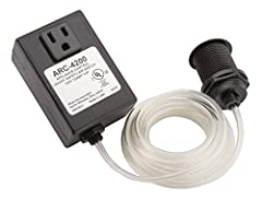 Air switch controller allows you to turn your disposal on and off with the touch of a button (ARC-4200 includes base unit only, switch button sold seperatly) Easily mounts into existing sink hole or a 1-3/8 inch in the countertop Perfect for island s...