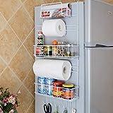 Hanging 6 Tier Metal Refrigerator Side Storage Organizer Rack By SkyMall