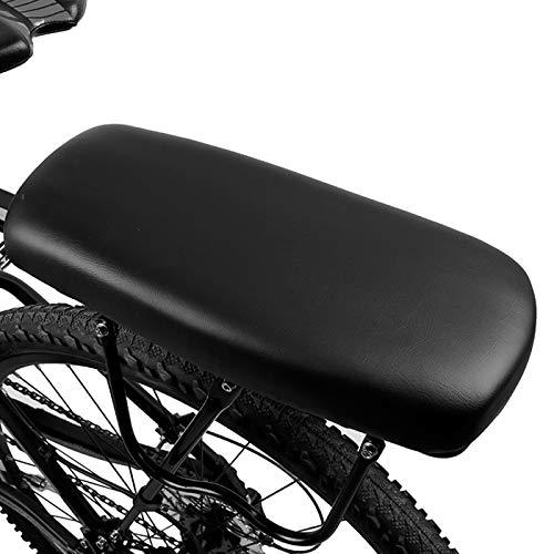 RAYTHEONER Cuscino Posteriore per Bicicletta,Sedile Posteriore per Bicicletta Ciclismo MTB,Posteriore Sedile Cuscino per Bambini,PU Spugna in Pelle Morbido Cuscino Rack per Bambini e Adulto