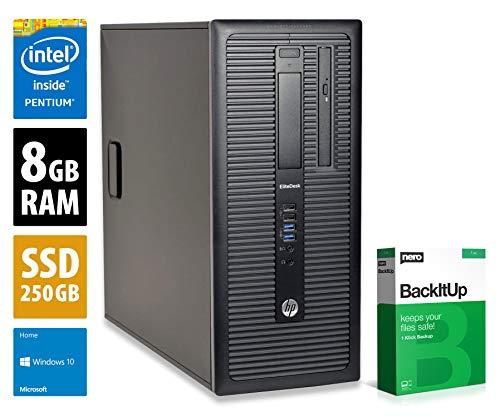 HP EliteDesk 800 G1 MT - Core i5-4590 @ 3,3 GHz - 8GB RAM - 250GB SSD - DVD-RW - Win10Home (Zertifiziert und Generalüberholt)