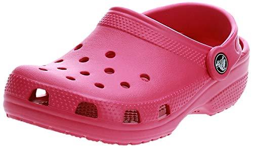 crocs Unisex-Kinder Classic Kids Clogs, Pink (Candy Pink 6X0), 32/33 EU